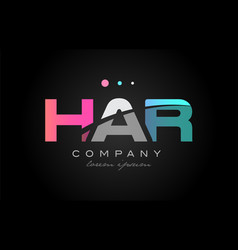 Har h a r three letter logo icon design vector