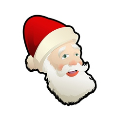 Head of Santa vector