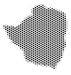 Hex tile zimbabwe map vector