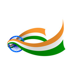 india flag creative variant vector image