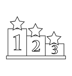 Isolated podium and stars design vector