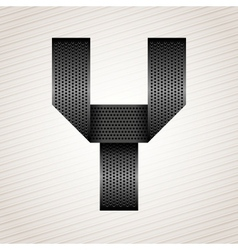 Letter metal ribbon - Y vector image vector image