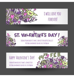 Love banners design vector image