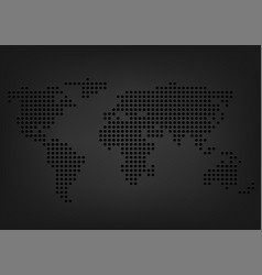 Metal holes world map vector