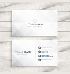 minimal white business card design template vector image
