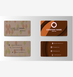 modern business card template vector image vector image