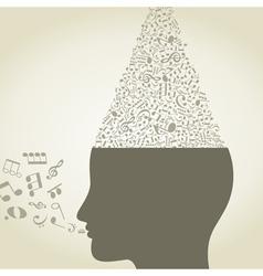 Musical head6 vector