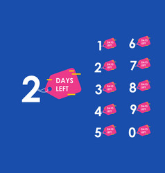 Number days left countdown template vector