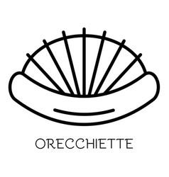 Orecchiette pasta icon outline style vector