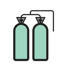 Oxygen tanks vector