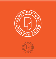 p monogram paper factory orange vector image