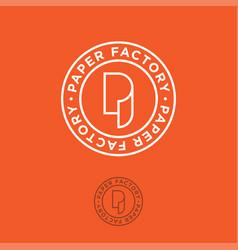 P monogram paper factory orange vector