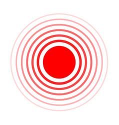 Pain circle red rings symbol throbbing vector