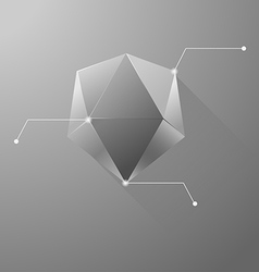 Polygon info graphic vector image
