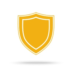 Protection shield icon placed on white vector image