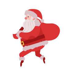 santa claus sneaking with vector image