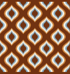 seamless retro geometric mesh ornament wallpaper p vector image