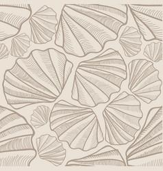 Seashell seamless pattern summer holiday marine vector