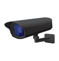 Security camera black cctv surveillance system vector