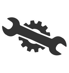 service wrench flat icon vector image