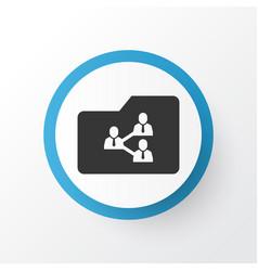 Shared folder icon symbol premium quality vector