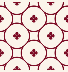 Simple geometric seamless pattern with flowers vector