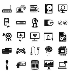 site icons set simple style vector image