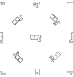 smart tv pattern seamless vector image