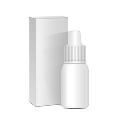 Spray nasal or eye antiseptic drugs white plastic vector