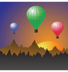 Stratospheric balloons vector