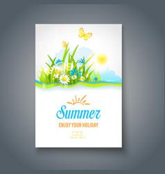 Summer motif vector