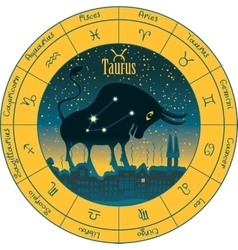 Taurus signs of the zodiac vector