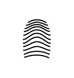 three fingerprint types on white background loop vector image