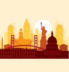 united states america usa landmarks urban vector image