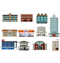Various buildings cartoon for you design vector