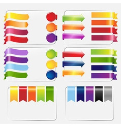 Web Ribbons Set vector