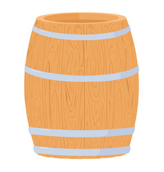 Wine barrel icon cartoon style vector
