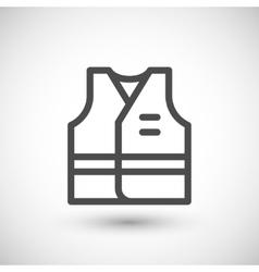 Working vest line icon vector