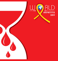 World hepatitis day vector