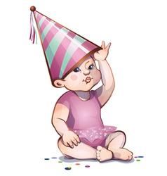 birthday girl vector image vector image
