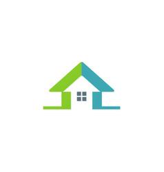 house arrow colored logo vector image