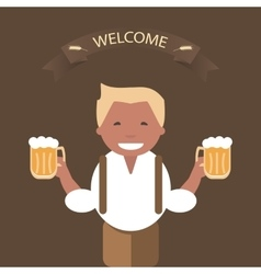 Man with a Mug of Beer in His Hand vector image