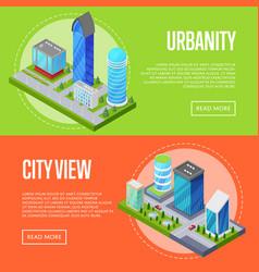 modern urban life banners set vector image vector image
