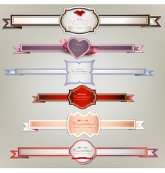 Set of holiday ribbons and labels background vector image vector image