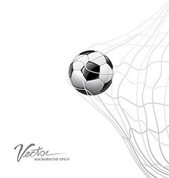 Soccer ball in net on goal vector image vector image