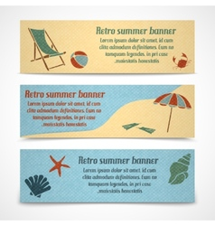 Summer vacation banners horizontal vector image