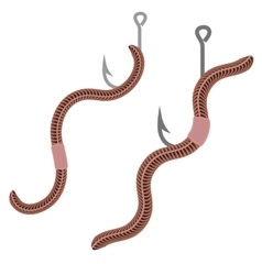 Animal Earth Red Worms for Fishing vector image