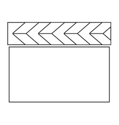 Cinema clapper the black color icon vector