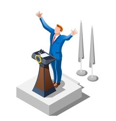 Election Infographic Political Debate Isometric vector image vector image