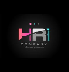 hri h r i three letter logo icon design vector image vector image